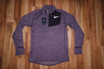 best loved e4b6b 3b8fa Nike Therma Sphere Element Flash Men s Half Zip Running Top Shirt 857829  652 S,M