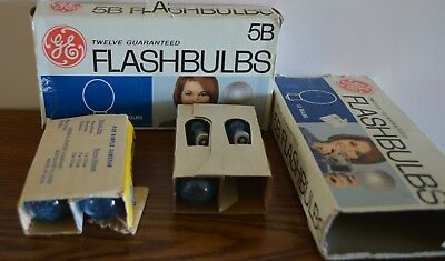 GE 5B flashbulbs in original boxes with missing end tabs  total of 19 bulbs