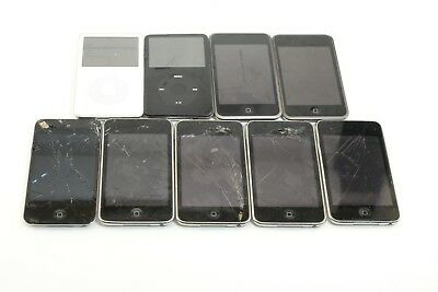 9 Apple iPod Touch A1367 8GB A1213 A1318 32GB 16GB A1136 30GB Cracked Power On