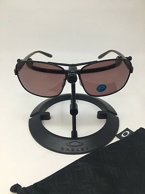 OAKLEY SANCTUARY Polarized Sunglasses Satin Black/Grey OO4116-06 100% Authentic