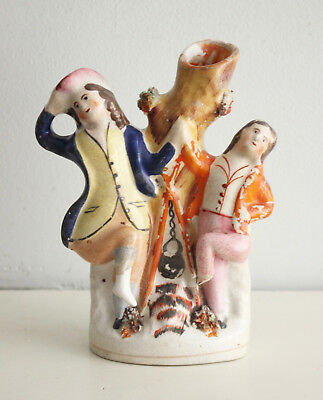 A Charming Antique c19th Staffordshire Group, Campfire Dancing