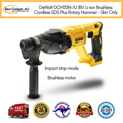 DeWalt DCH133N-XJ 18V Brushless Cordless SDS Plus Rotary Hammer - Skin Only