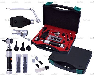 BLACK Veterinary Otoscope Ophthalmoscope Diagnostic Kit ENT Surgical Instruments