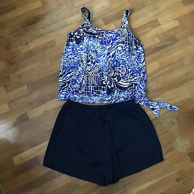 a385ca6be5b Swimsuits For All Beach Belle Women's Plus Size 24W Floral 2 Piece Tankini  Suit