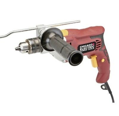 "Hammer Drill 1/2"" Inch Heavy Duty Variable Speed Reversible Corded New"