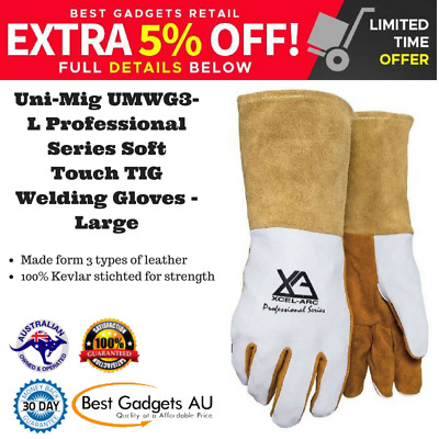 Uni-Mig UMWG3-L Professional Series Soft Touch TIG Welding Gloves - Large