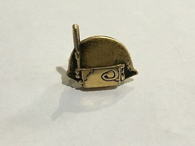 Vintage Delco radio tie clip possibly WW2 gold filled nice advertising piece.