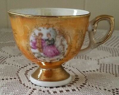Vintage China Cup Gold Crinoline Lady Pattern Made in Japan