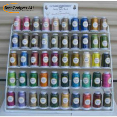 50 Spools Madiera Rayon Colours Machine Embroidery Outback Thread.