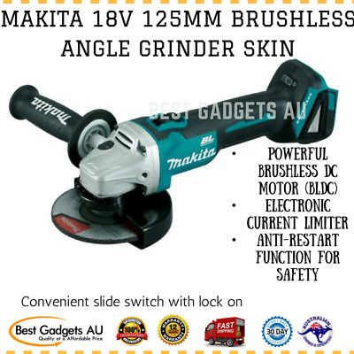 Makita 18V 125Mm Brushless Angle Grinder Skin Dga504Z Cordless Tool Skin Only