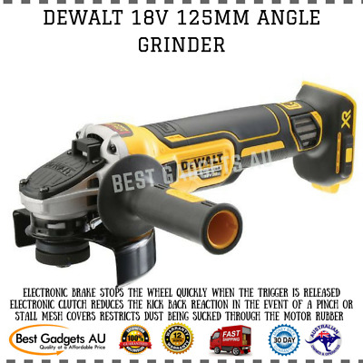 Dewalt 18V 125Mm Angle Grinder Electronic Brake Clutch Mesh Covers Cordless Tool