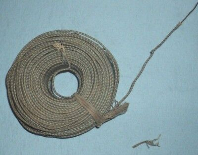 Roll of cloth covered solid copper vintage wire - 1 1/8 pounds weight  .040 inch