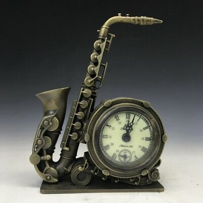 collect fine handmade instrument statue copper Mechanical Clocks watches.  k26