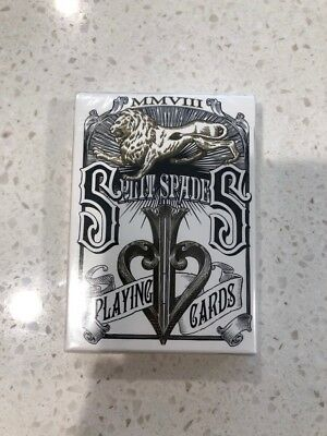 NEW SEALED David Blaine Silver Split Spades playing cards