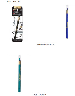 New L'oreal Infallible Eye Silkissime Silky Pencil Eyeliner - Choose Color