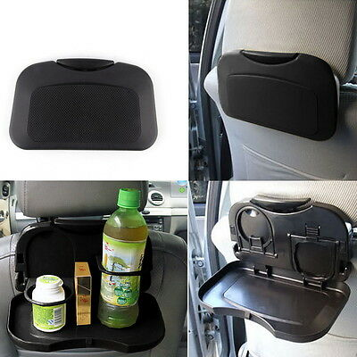 Folding Auto Car Back Seat Table Drink Food Cup Tray Holder Stand Desk SJ