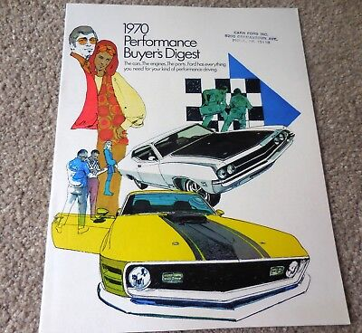 Original 1970 Ford Performance Buyer's Digest Brochure Catalog