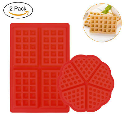 2 Style Waffle Mould Biscuit Mould Heart Shaped Baking Tool Cake Candy