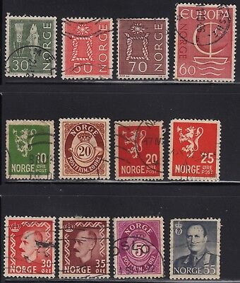 Norway group of early stamps
