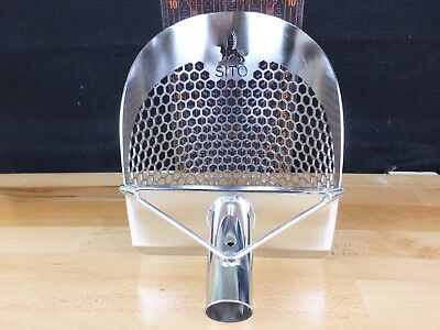 """SITO- 200mm (7.75"""") Wide (Hexagonal Holes) Stainless Steel Beach Sand Scoop"""