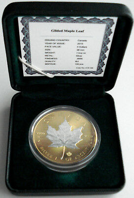 2015 Canada $5 ''Silver Maple Leaf'' 1oz Gold Plated Coin