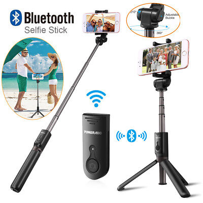 Extendable Selfie Stick w/Bluetooth Remote Shutter+Tripod Mount For Mobile Phone