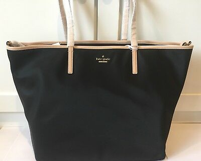 KATE SPADE New York Harmony Classic Nylon Black Tote Bag Handbag Baby NWT $298