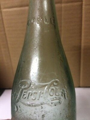 STRAIGHT SIDED PEPSI:COLA SODA BOTTLE BY COBLE COLUMBIA, SOUTH CAROLINA 12oz