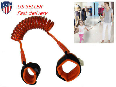 US 2.5m anti-lost children rope safty Wrist Strap Baby Walk Child Toddler Link