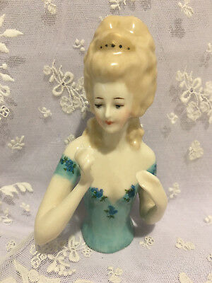 """Porcelain Half Doll - """"Lily May"""" 11 cms"""