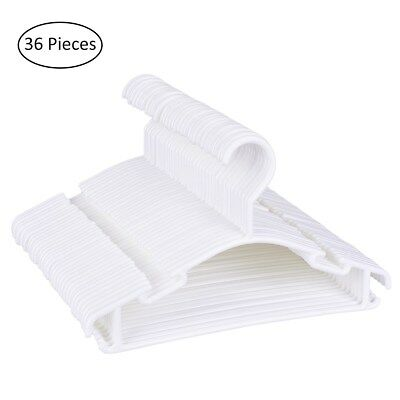 36 Pcs of Baby Plastic Clothes Hangers Trouser Coat Bar Drying Rack Hangers Hook