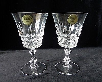CRISTAL D'ARQUES TAILLE FRANCE Tuilleries Villandry Crystal Wine Stems