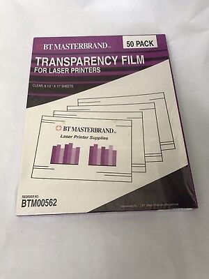 BT Masterbrand Transparency Film for Plain Paper Printers 50 Sheets BTM00559