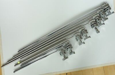"Mathews Studio Equiptment Grip Arms / LOT OF 8 / (4) 40"" (2) 21"" (2) 28"""