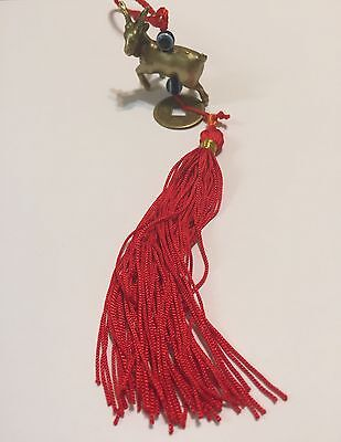 2015 Chinese New Year God Luck Golden Sheep With Evil Eye Amulet Tassel