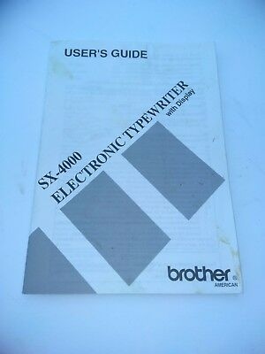 Brother SX4000 Electronic Typewriter - Manual Only