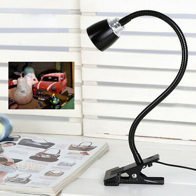 3W LED Picture Light Clip Clamp Reading Lamp Flexible pipe ON/OFF Button Cabinet