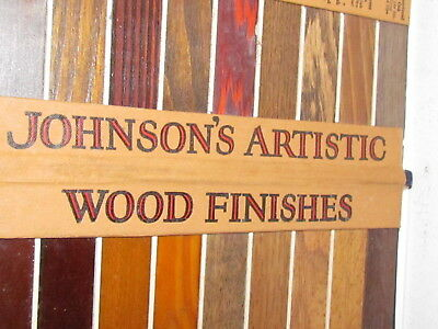 Vintage S. C.  Johnson's & Sons Artistic Wood Finishes Store Sample Display