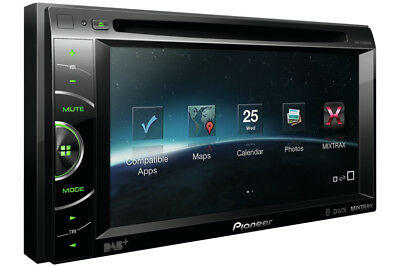 PIONEER AVH-X3500DAB DVD Multimedia USB APPMODE Bluetooth and DAB+ Top