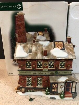 Dept 56 christmas village Waterbury Button Company New England Village 56666