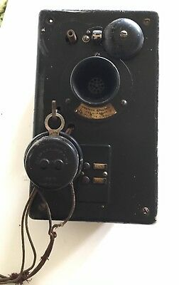 Vintage Western Electric Inter-Phone Interphone w/ 2 Buttons 1914 Patent