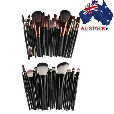 Soft 22Pcs Pro Face Powder Makeup Brushes Set Eyeshader Blending Highlight Tools