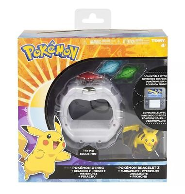 Pokemon Z-Ring Crystal Bracelet Set With Pikachu For Sun And Moon Tomy