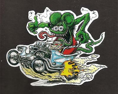 """rat Fink"" - Hot Rod Sticker Decal Car Surfboard Ute Truck Surfing Drag Racer"