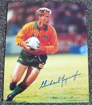 Michael Lynagh  Hand Signed Photos X 6