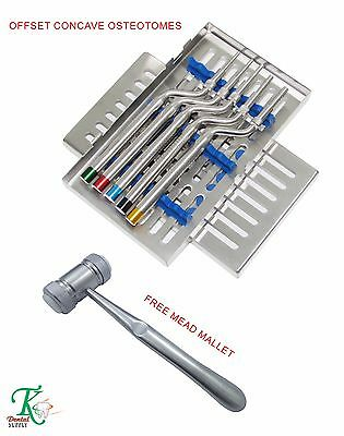 Chirurgie Dentaire Implant Kit Sinus Ostéotomes+Cassette Mead bone Mallet Dental