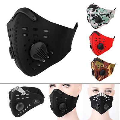 Unisex Cycling Outdoor Anti-dust Half Face Mask Filter Neoprene One Size SD