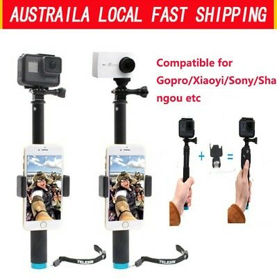 Flexible Extendable Selfie Stick Handheld With Tripod Mount For GoPro Hero 5