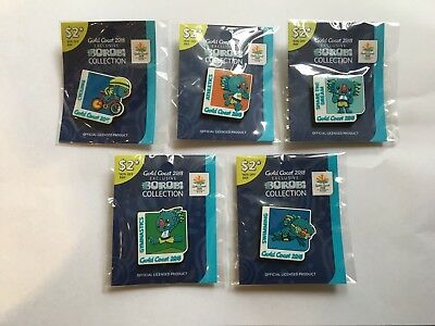 2018 Commonwealth Games Borobi Pins All 5 As New