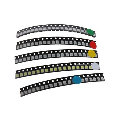100Pcs 5 Color SMD 3528 1210 LED Light Yellow Red Green Blue White Assotment Kit